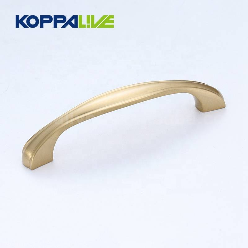 Promotion modern luxury gold furniture hardware kitchen cabinet brass cupboard pull handle