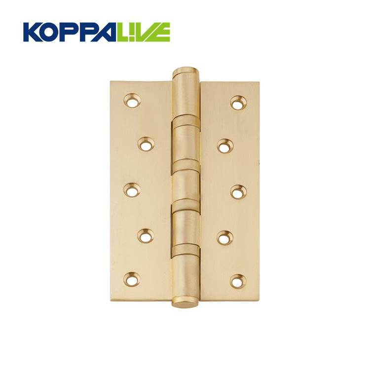 Koppalive furniture hardware wholesale heavy duty folding brass plated two way cabinet wooden door hinge