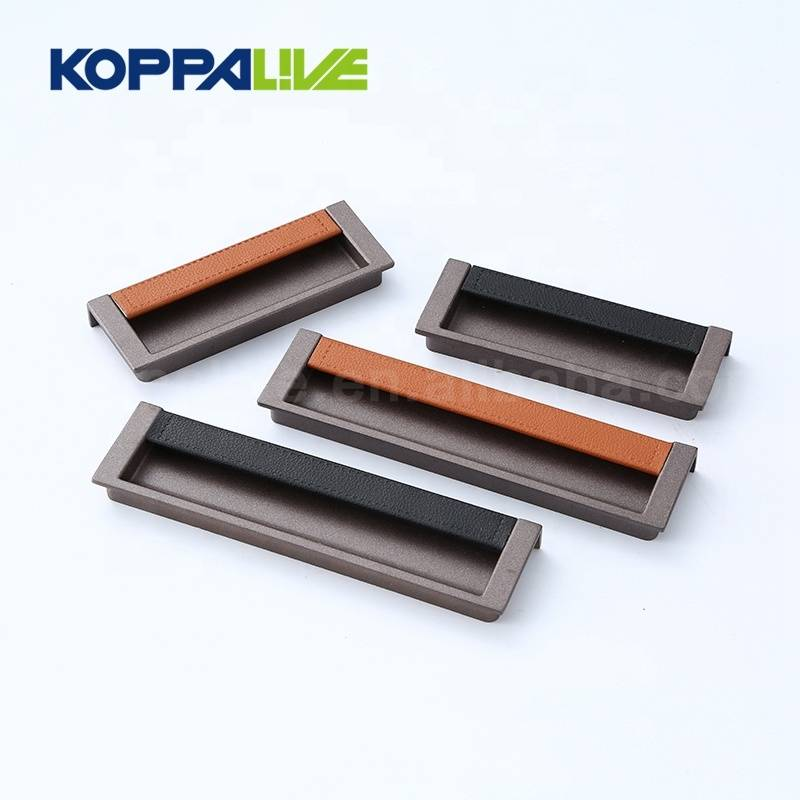 Fashion Recessed Kitchen Bathroom Cupboard Alloy Hidden Sliding Push Door Pull Handles
