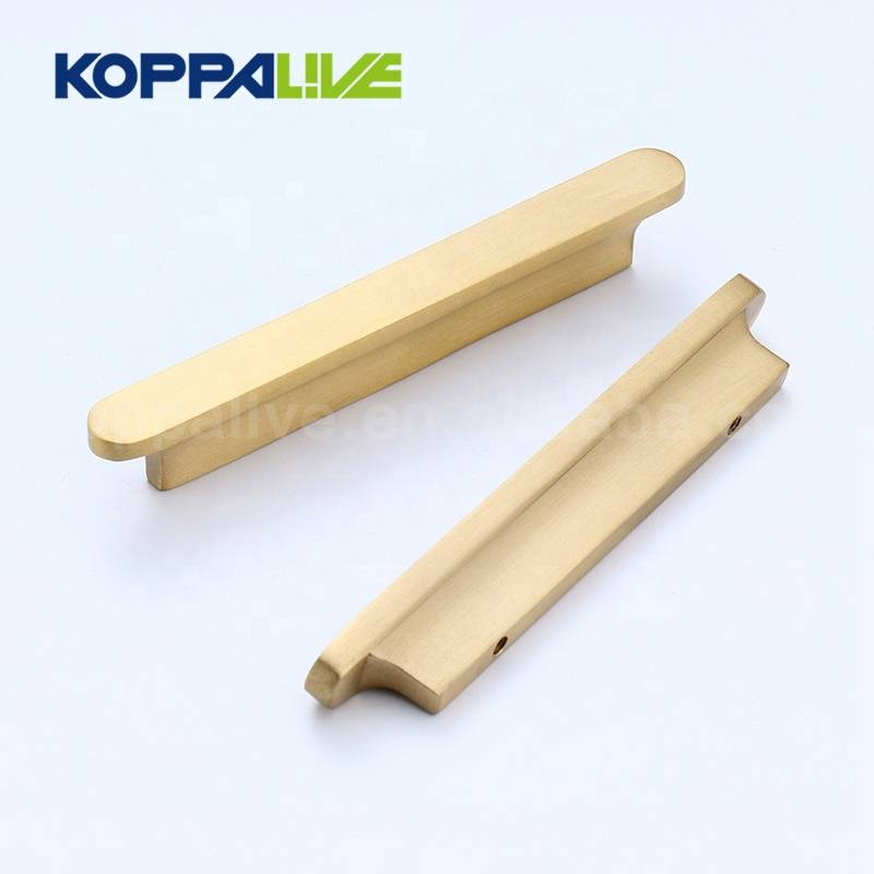 Solid Brass Interior Cupboard Furniture Hardware Kitchen Cabinet Drawer Oval Copper Pulls Handle