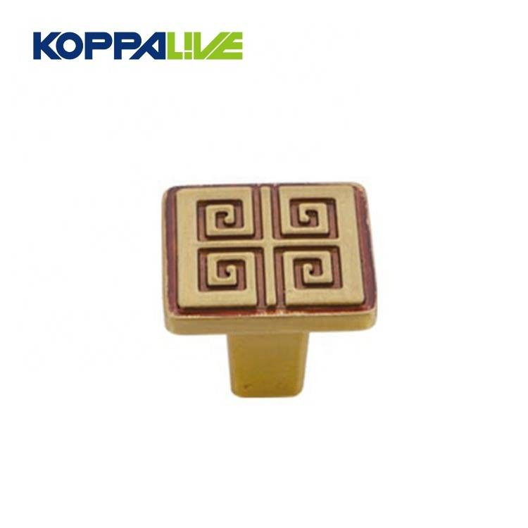 KOPPALIVE Home Hardware Decorative Kitchen Furniture Luxury Solid Brass Dresser Cabinet Knob