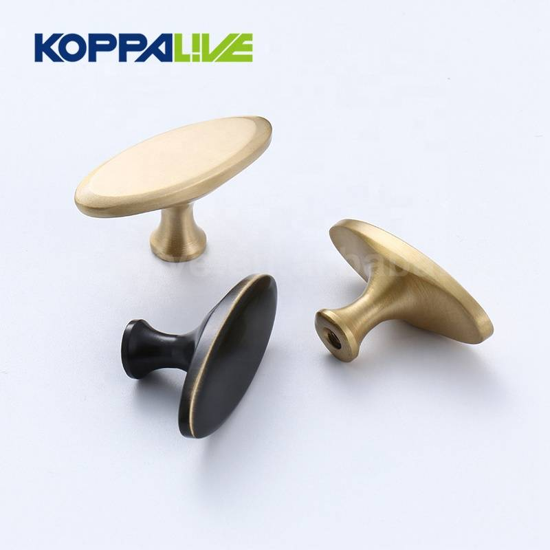 Luxury solid brass gold bedroom kitchen single hole copper pulls knobs for furniture cabinet drawer