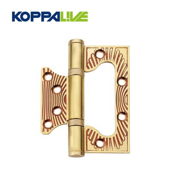 Solid Brass Plated Sub Mother Flush Wardrobe Furniture Invisible Door Hinge With 2 Ball Bearing
