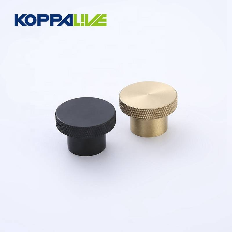 China supplier classical custom brass kitchen cabinet door handles knurled knob