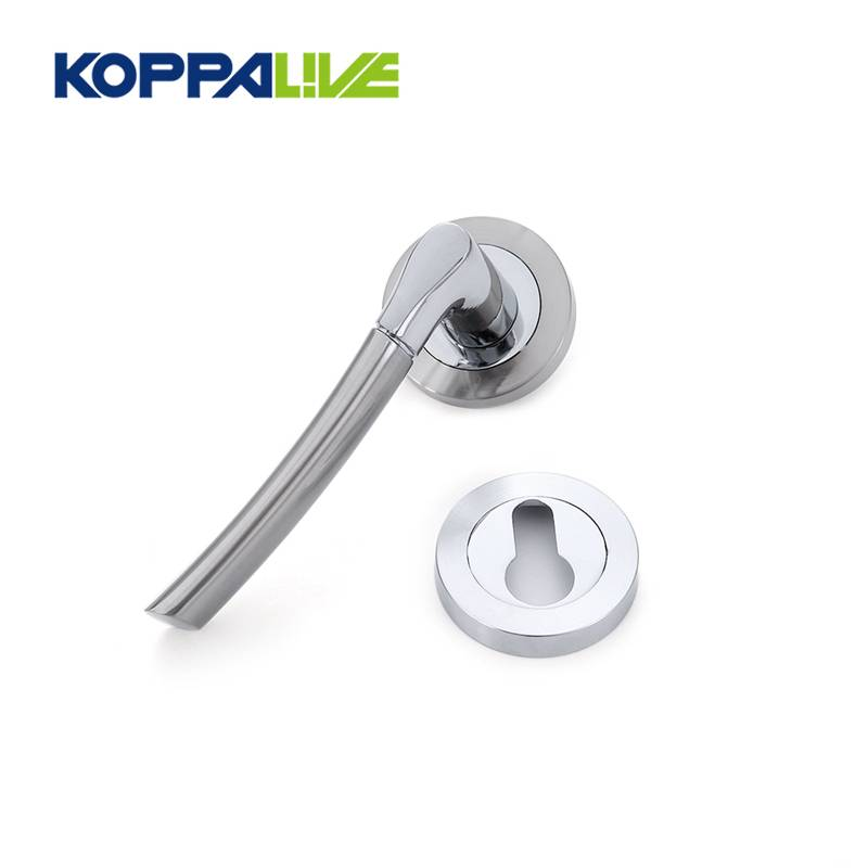 KOPPALIVE Simple modern style zinc alloy interior door lever handles lock set for wooden door Featured Image