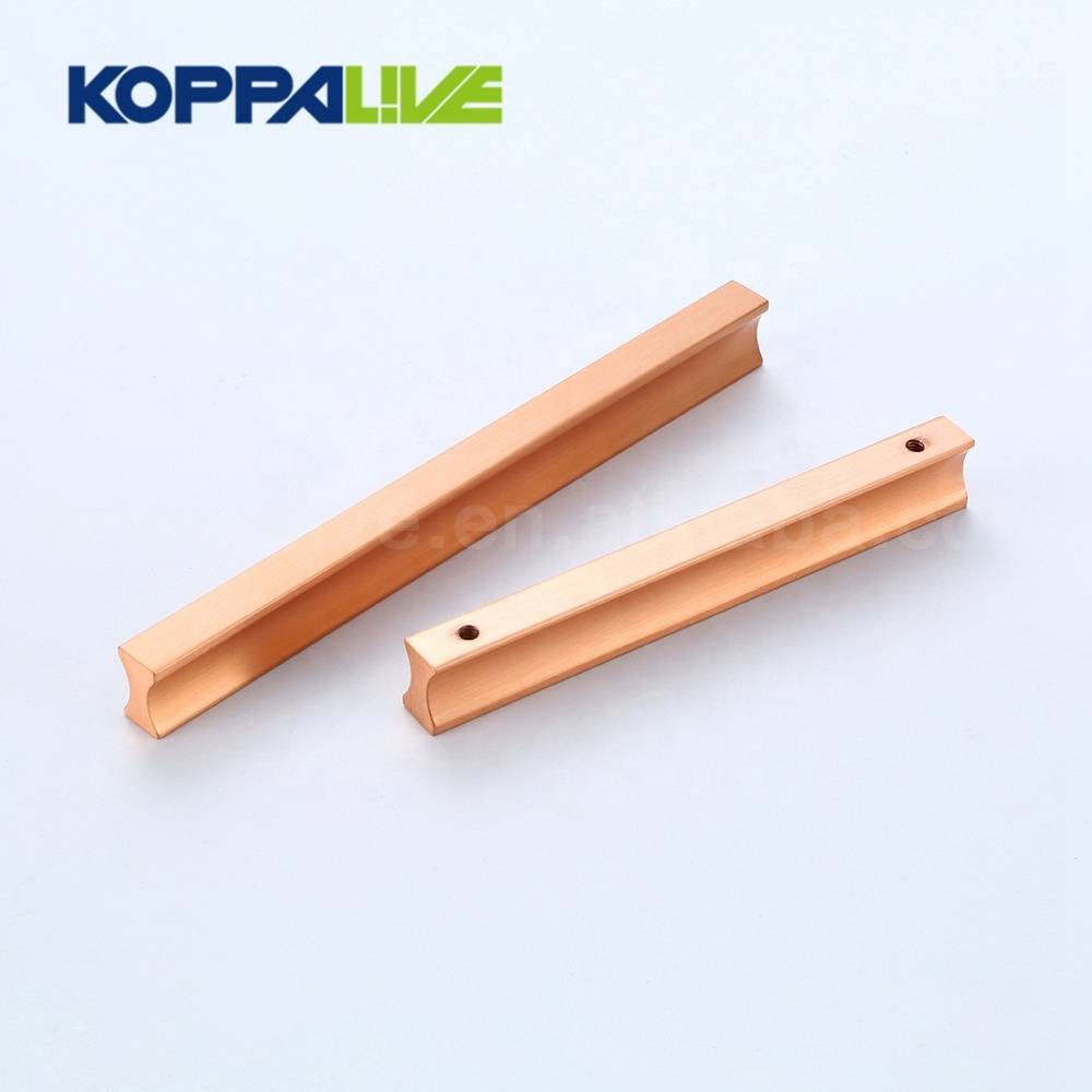 Customizable nordic decorative solid brass rose gold kitchen copper cabinet straight vertical bar pulls handle
