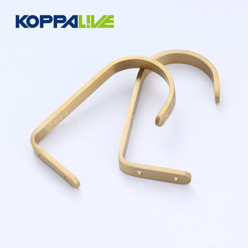Multifunction Wall Mounted Brass J Towel Clothes Coat Hooks Robe Hook for Bedroom Decoration