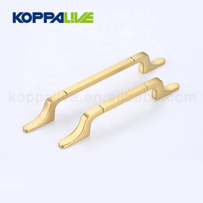 Continental modern furniture drawer copper handles brass cupboard cabinet door pull handle