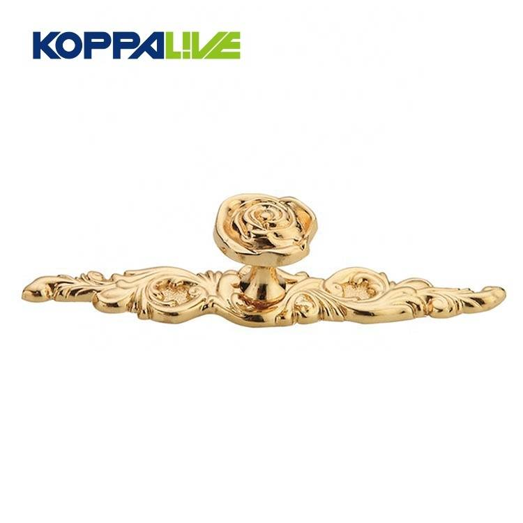 Hardware rose shape cabinet kitchen furniture antique handle manufacturer