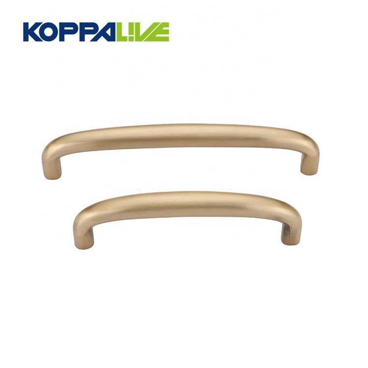 New simple antimicrobial brass shine metal kitchen cabinet furniture copper drawer pull handles