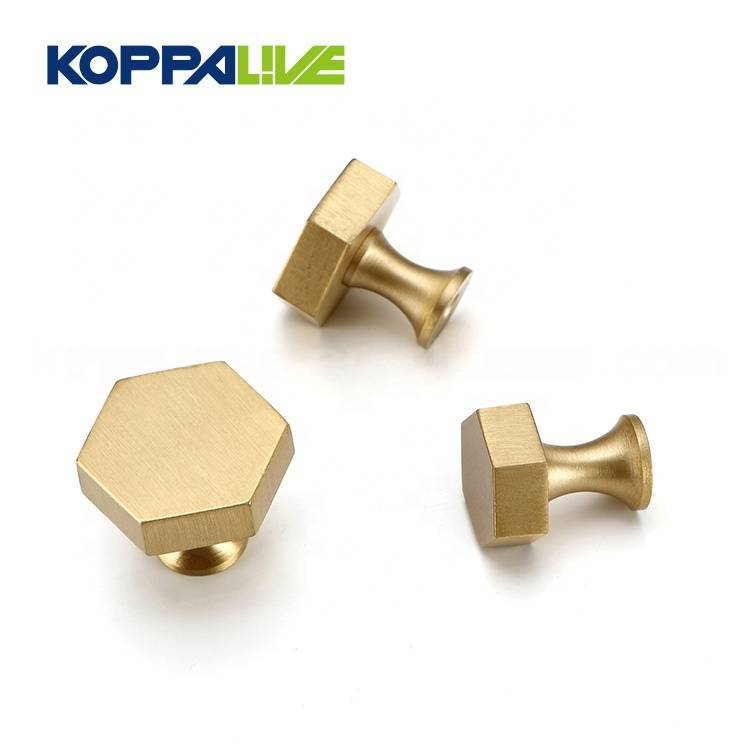 Wholesale Furniture Hardware Accessory Polygon Brass Drawer Wardrobe Cabinet Pull Handle Knobs Featured Image