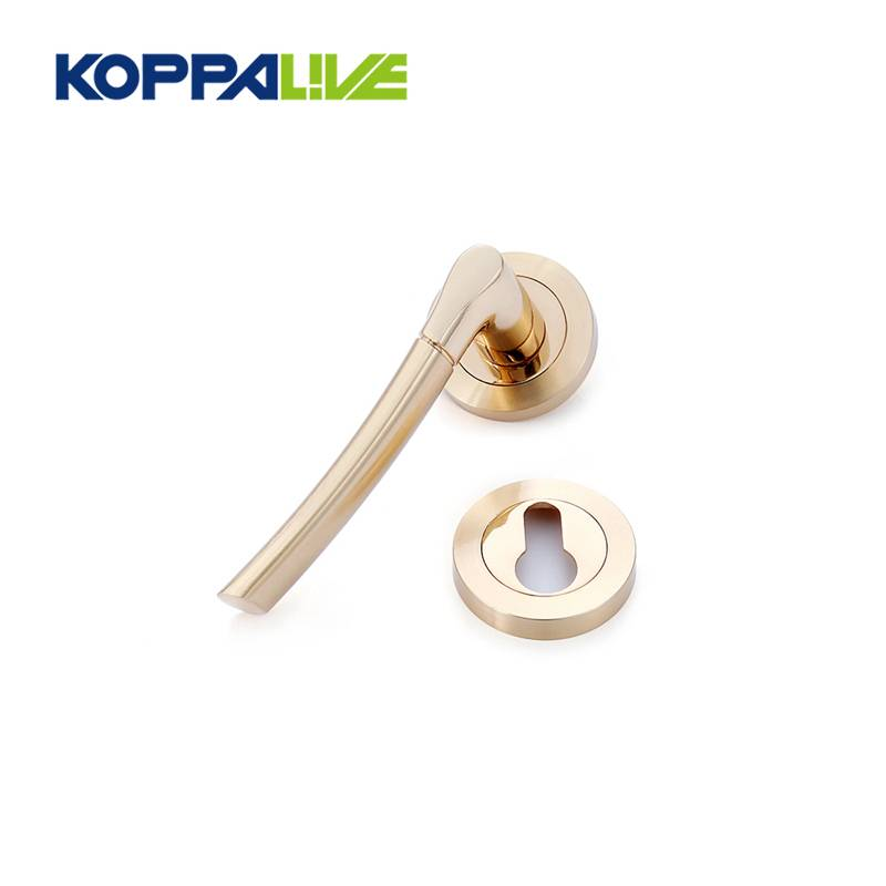 KOPPALIVE Simple modern style zinc alloy interior door lever handles lock set for wooden door