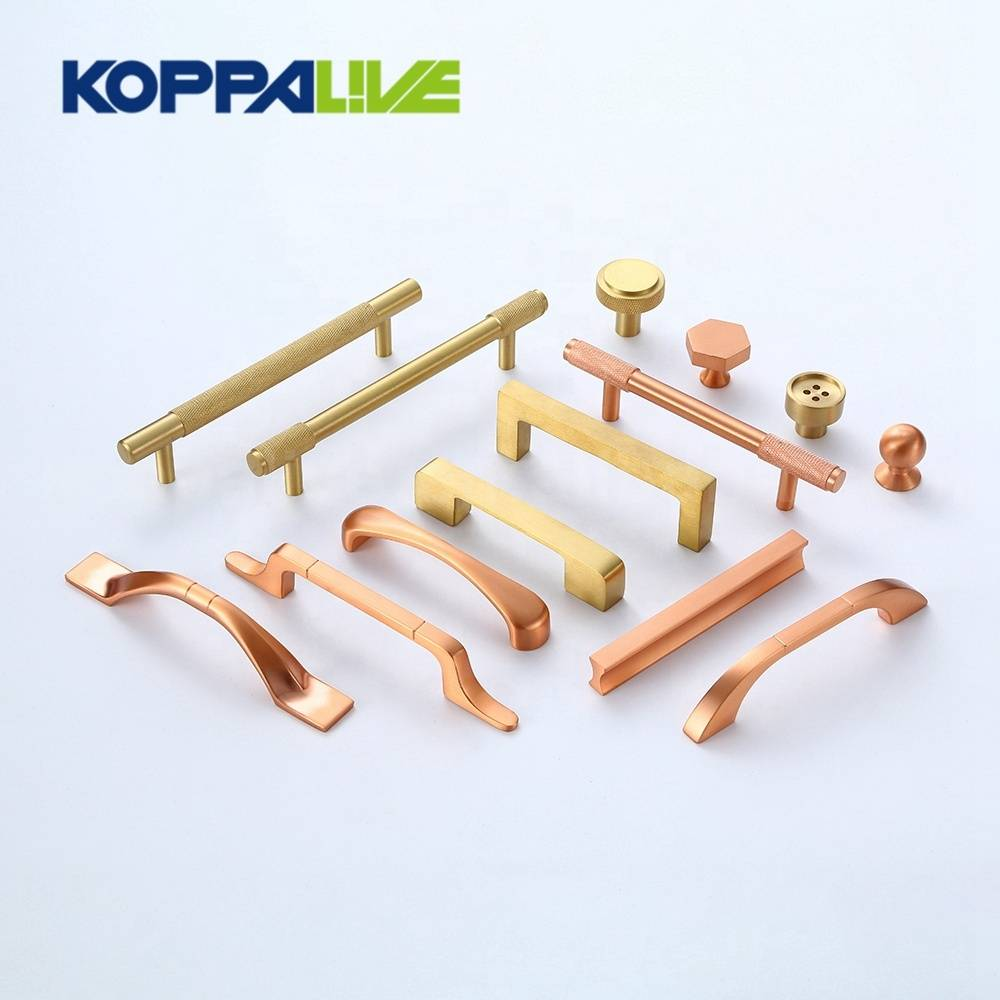 Hot selling home furniture hardware cupboard handles solid brass kitchen cabinet pull handle and knob