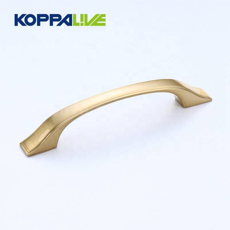 KOPPALIVE Custom Furniture Hardware Solid Brass Good Kitchen Cabinet Cupboard Drawer Pulls Handle