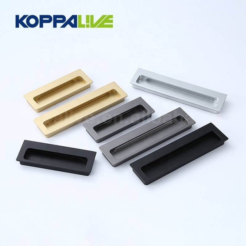 Professional design hidden recessed types furniture handles concealed cupboard door handle