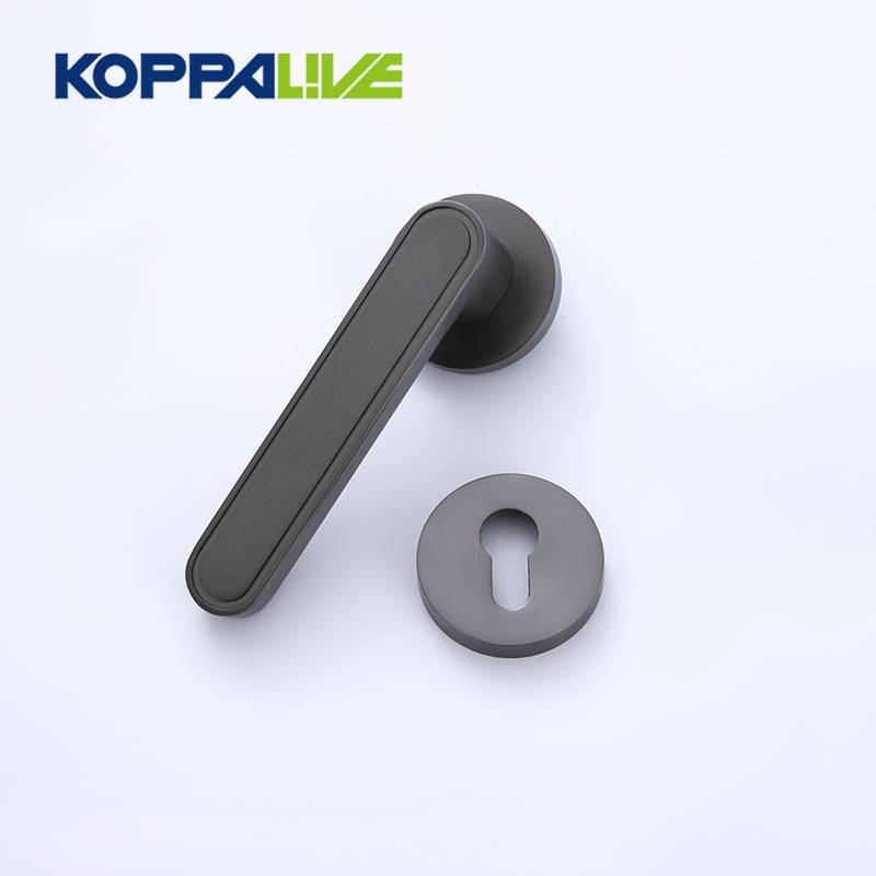Hot sale modern design zinc alloy door lever handle on rosette for interior door