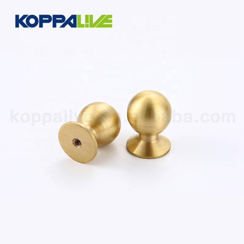 KOPPALIVE Modern Design Cupboard Hardware Furniture Accessories Solid Brass Cabinet Drawer Pull Knob