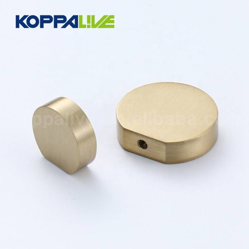 New Design Furniture Hardware Round Solid Brass Cabinet Knob and Pull for Bedroom Furniture Drawer