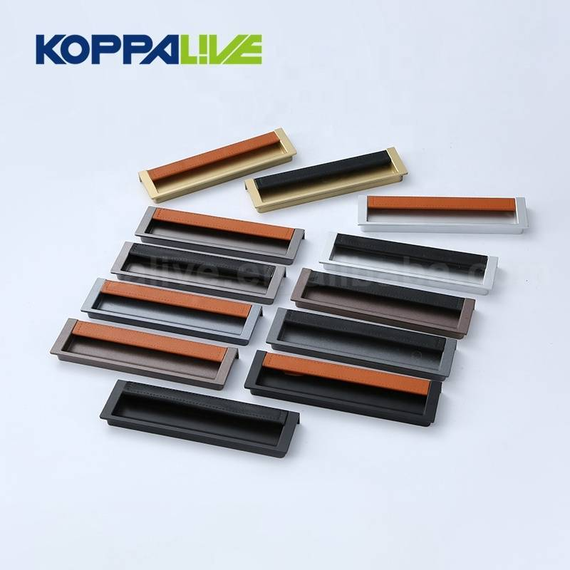 Chinese Factory Price Custom Single Side Door Pull Alloy Recessed Handle
