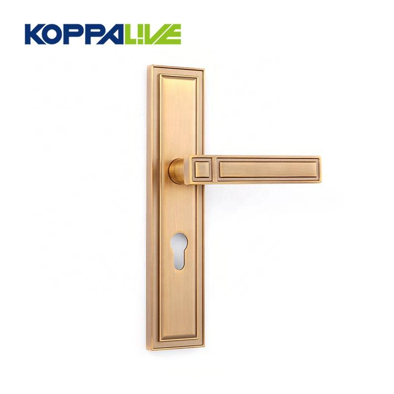 Luxury style hardware bedroom furniture safety lever door handle zinc alloy Featured Image