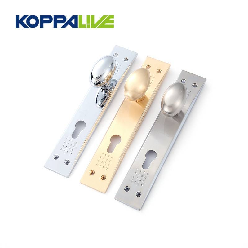 Classic Zinc Alloy American Style Brushed Entrance Door Hardware Handle with Plate