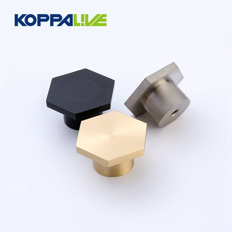Hexagonal Unique Design Brass Wardrobe Knobs Dresser Drawer Pulls Kitchen Cabinet Knob Furniture Hardware