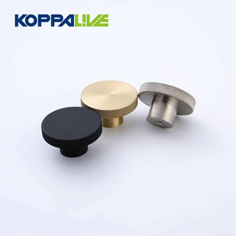 9026-L modern interior wardrobe furniture pulls brass knurled cabinet knob for home decor