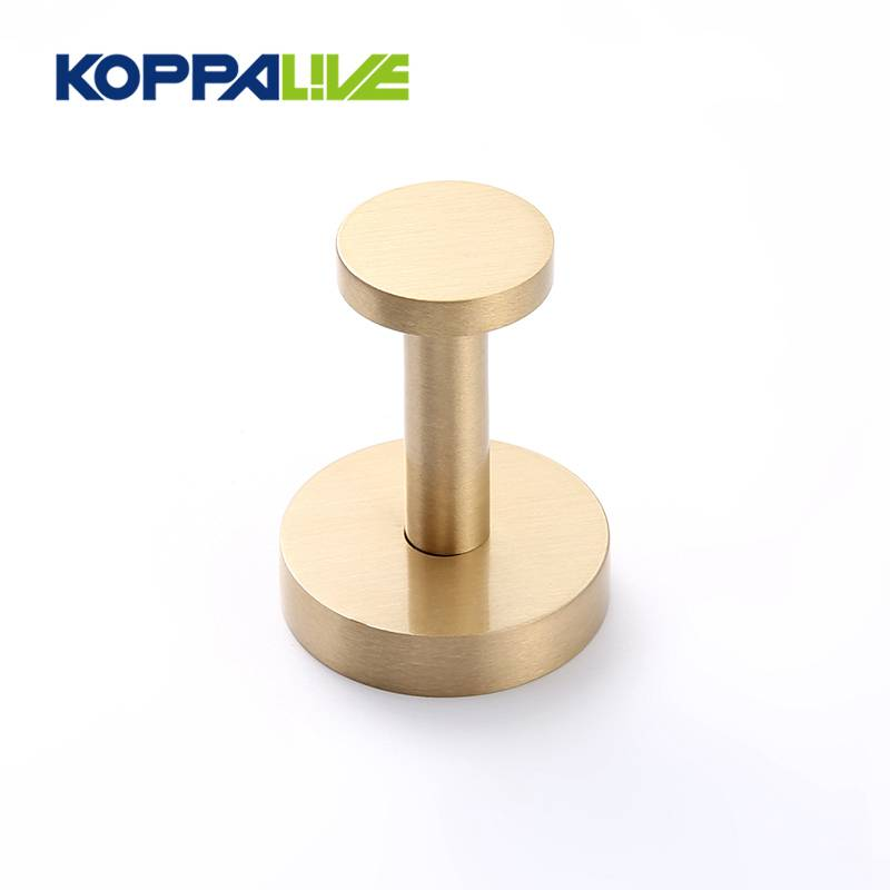 Factory supply gold rustic hardware wall mounted clothes brass robe hook