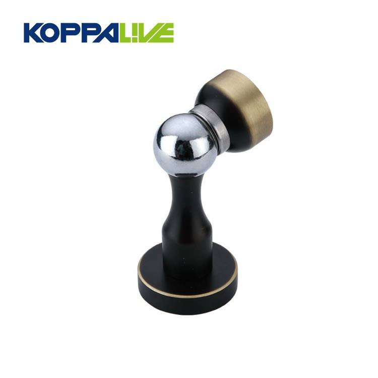 Factory supply hardware furniture brass magnetic sliding spring door draft stopper for wooden door