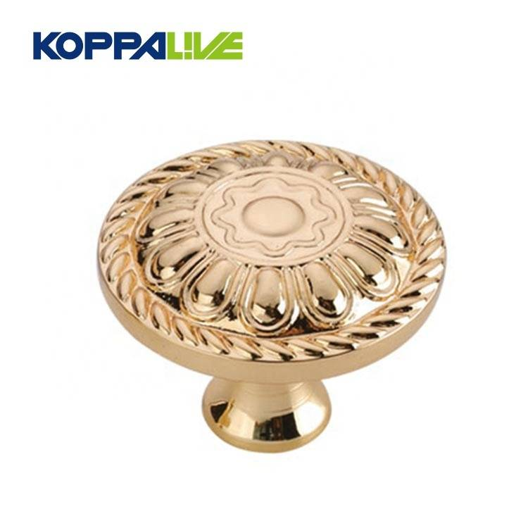 Kitchen hardware furniture antique brushed brass fancy cupboard cabinet drawer mushroom round pulls knob