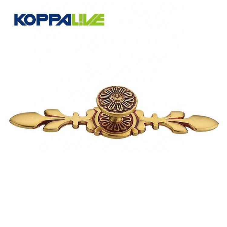 Koppalive Hardware manufacturer cabinet kitchen drawer round antique brass door knobs
