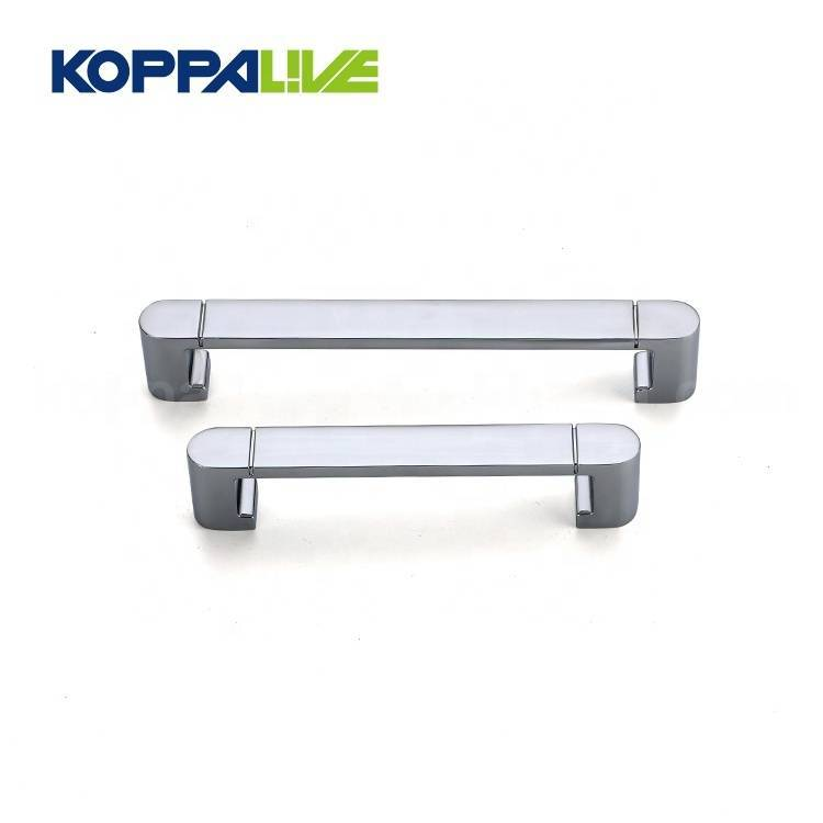 High end silver home furniture hardware zinc alloy kitchen cabinet pull handle accessories