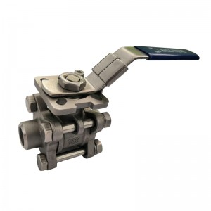 3PC Ball Valve with ISO 5211 Mounting Pad B301M