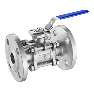 3PC Flanged Ball Valve DIN Standard with ISO 5211 mounting pad B304MD