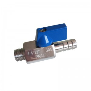 MINI Ball Valve M/Hose Nipple B141S