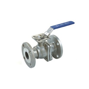 2PC Flanged Ball Valve JIS Standard with ISO 5211 mounting pad B404MJ