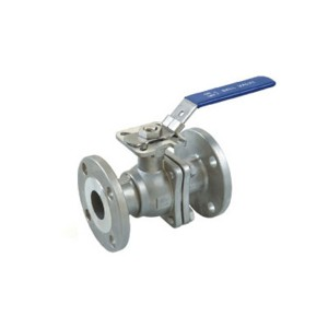 2PC Flanged Ball Valve ASME Standard with ISO 5...