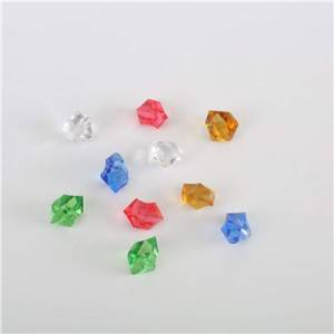 Custom board game plastic pieces plastic gems colorful acrylic gems game pieces
