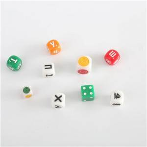 6 sides dice round corner or square dice custom game dice bulk dice wholesale