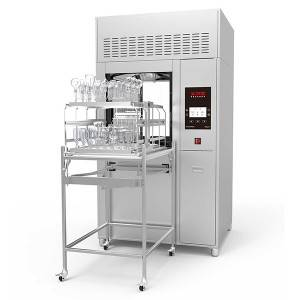 Laboratory washer with two doors can open in clean and non-clean areas