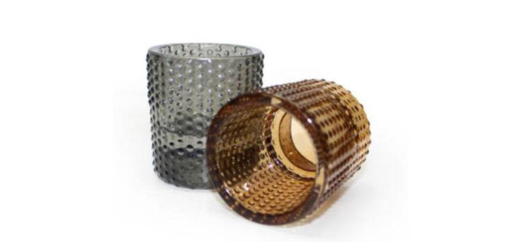 Dotted pattern glass candle holders