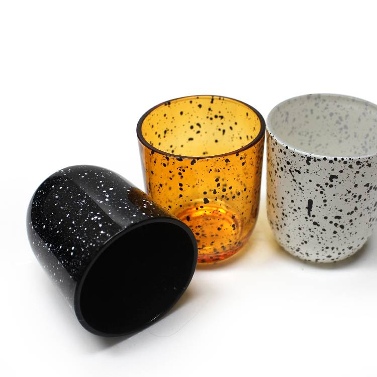 LXHY01 9x16cm 180ml 360ml  350ml 430ml cylinder colored recycled modern custom colored glass candle jar