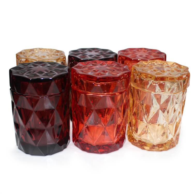 400ml different colored decorating candle glass jar holders