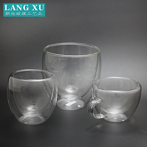 Handmade cute wholesale glass tea cup and saucer
