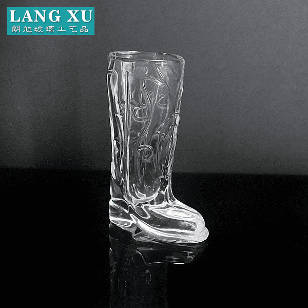 LXHY-KC-010 boot shaped mini wine shot glass