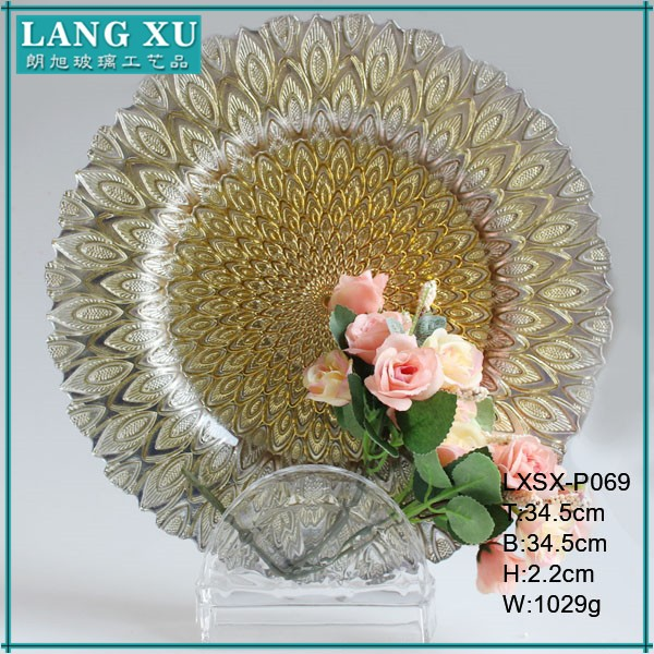 wedding table centerpieces glass cheap charger plates