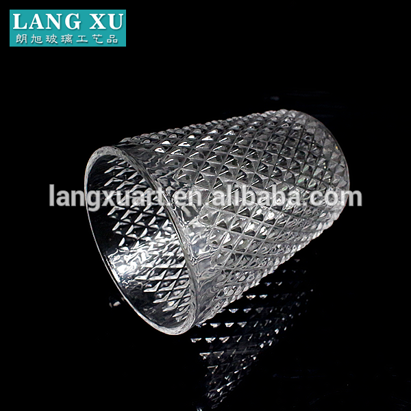 LXHY-011 250ml diamond pattern high quality drinking glass cup