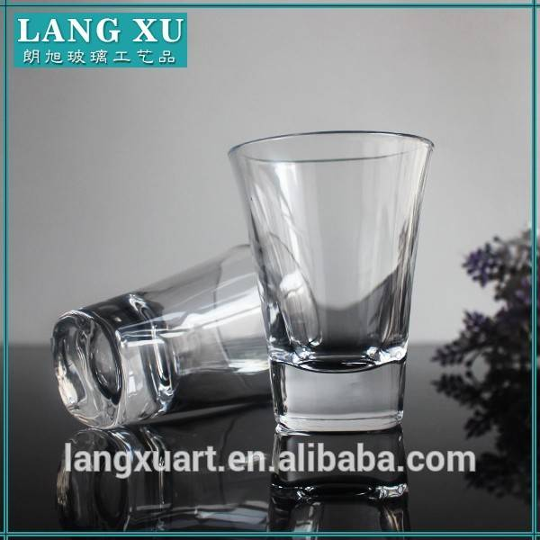 LX-S014 clear smooth wholesale custom 30ml shot glass