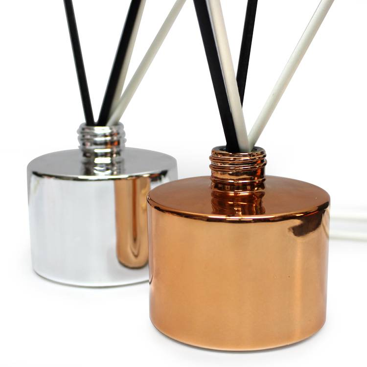 LX home decoration luxury new design round air freshener perfume glass reed diffuser bottles