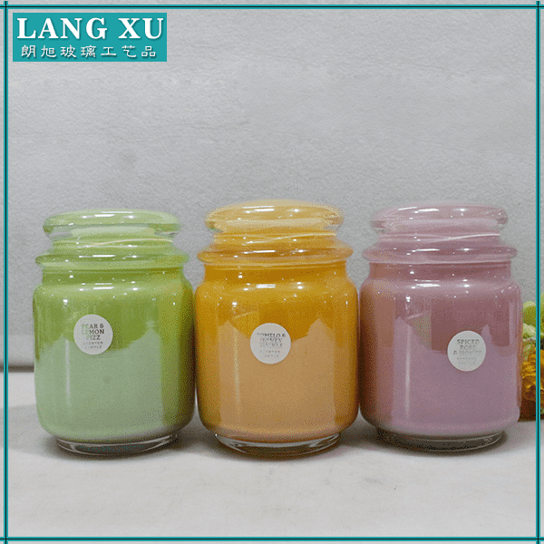 FJ-009 12 oz home decoration graceful soy scented candle wax